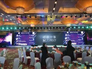 年会-新燕莎商业2017年度商户答谢年会-3Dlogo墙.jpg